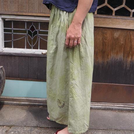 A HOPE HEMP Hemp Organic Cotton Gather Wide Pants(蓬)