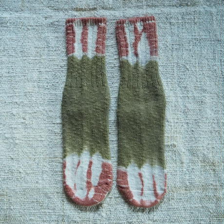 A HOPE HEMP Hemp Cotton Socks (大)  【山桃×枇杷】