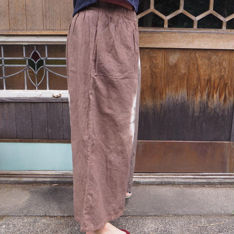 A HOPE HEMP Hemp Organic Cotton Gather Wide Pants(赤麻×枇杷)