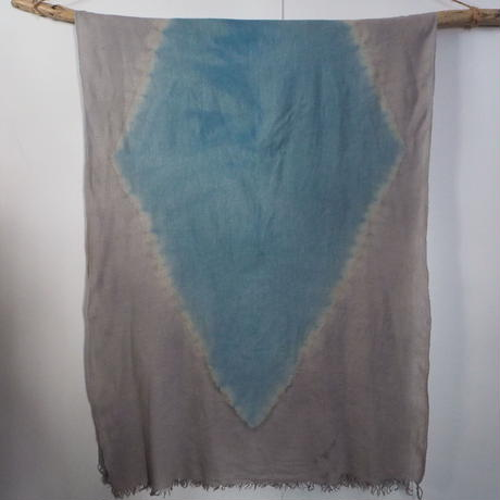 Hemp Wool Big Stole(すくも藍×柿渋)