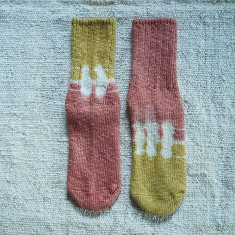 A HOPE HEMP Hemp Cotton Socks(小)【枇杷×柘榴】