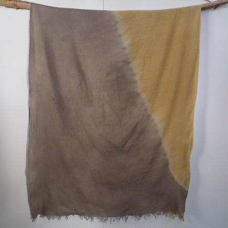 Hemp Wool Big Stole(黒文字×柘榴)