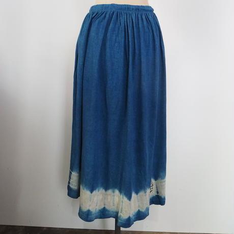 A HOPE HEMP Hemp Bamboo Cotton Gather skirt(すくも藍)
