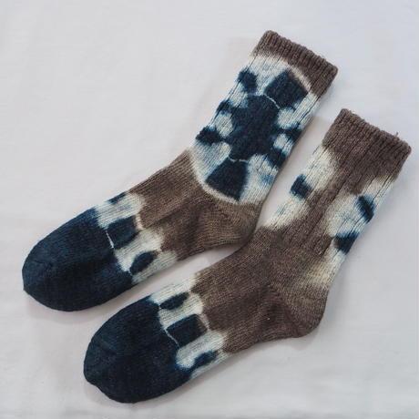 YOUstandard Hemp Cotton Socks(大) (インド藍×枇杷)