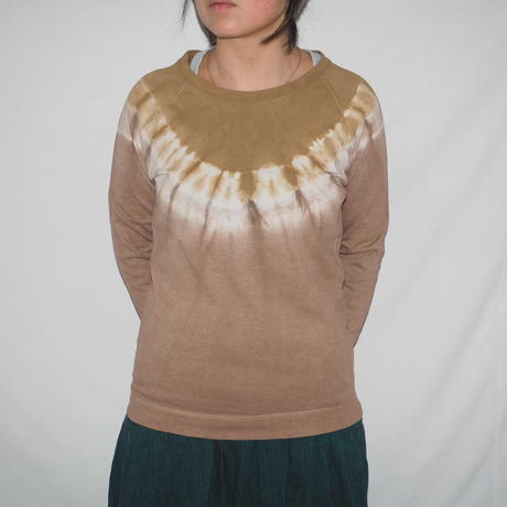 Raglan T-shirts Long Sleeve(黄土色×小豆色)