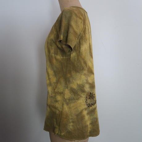 A HOPE HEMP Raglan French Sleeve Women's Tee(ハルジオン×山桃)