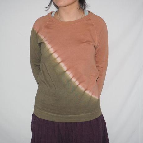 Raglan T-shirts Long Sleeve (ピンク×灰緑)