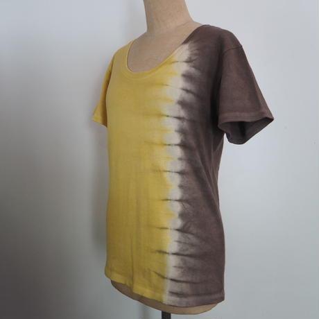 Lotus Heart U-neck Short Sleeve Tee(ハルジオン×枇杷)