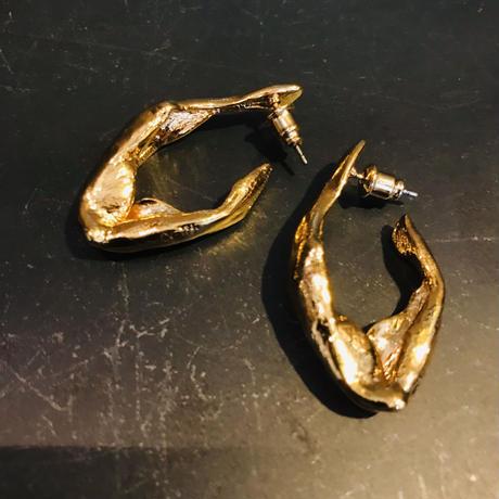 ゴールドメタルピアス