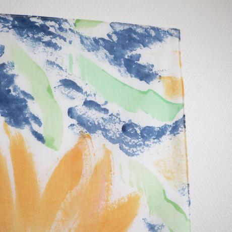 ハンカチ  SE-H-ネイビーオレンジ handprinted