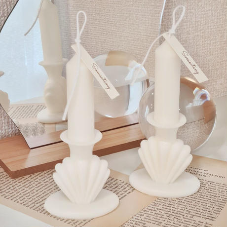 shell stand  candle