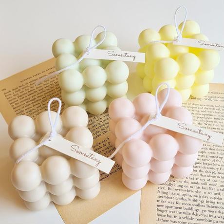 ○pastel color series○ bonbon candle