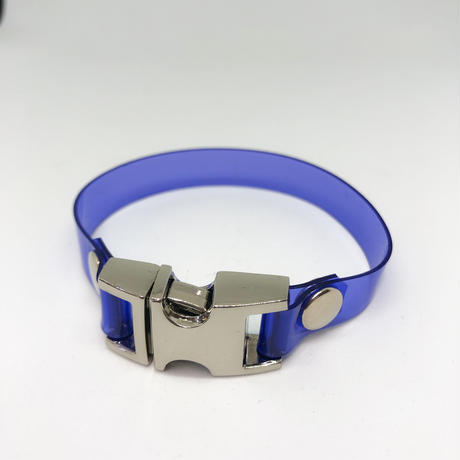 NICK NEEDLES /   PVC BRACELET / BLUE