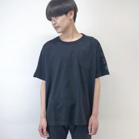 -niitu- / Mojibake T shirt / black×black