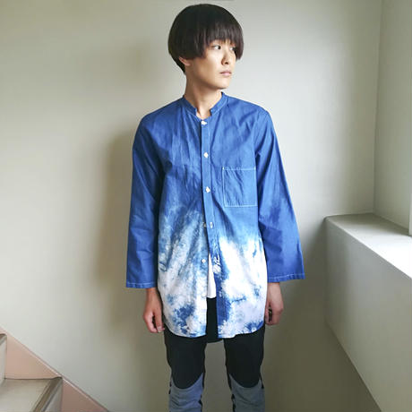 SHUTTLE / 藍染 LONG SHIRT