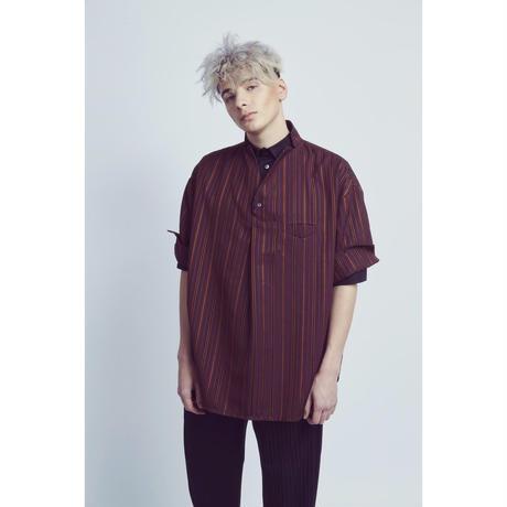 KONYA / ストライプシャツ / red
