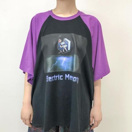 -niitu- / Electric Memoly Raglan T-shirt / purple