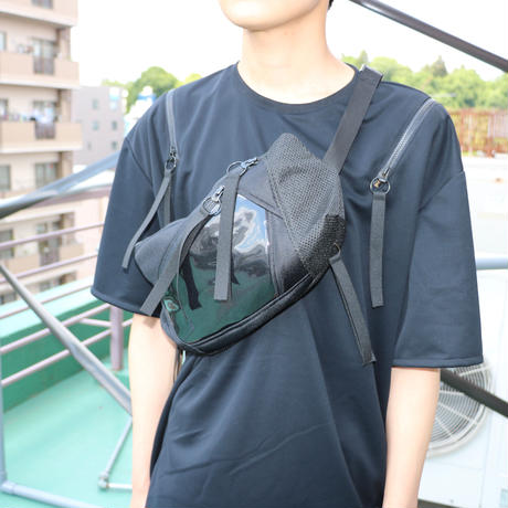 NICK NEEDLES / 2ZIP WASTE BAG / BLACK