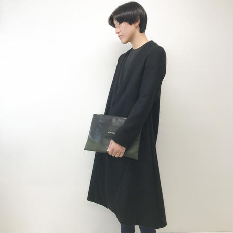 NICK NEEDLES / Clutch Bag / BLACK×KHAKI