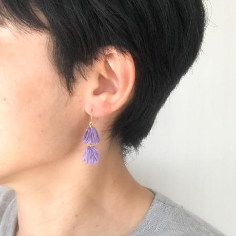 FUSAFUSA ピアス / violet