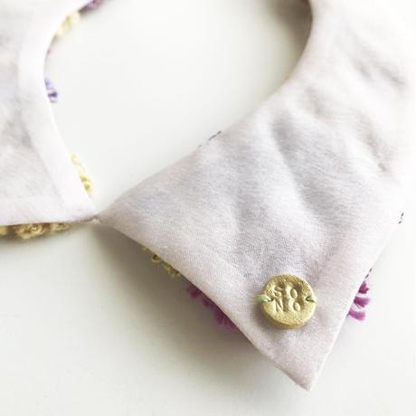 MINORI つけ襟 / violet&beige