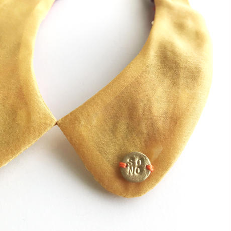 MINORI つけ襟 / yellow&orange