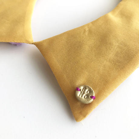 MINORI つけ襟 / pink&yellow