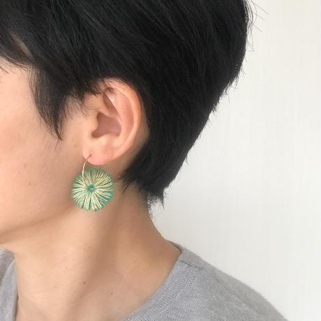HIKARI 一粒フープピアス / green