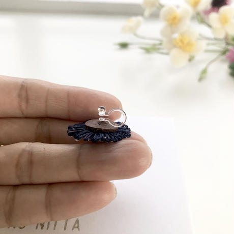 HIKARI 一粒リングピアス / water blue