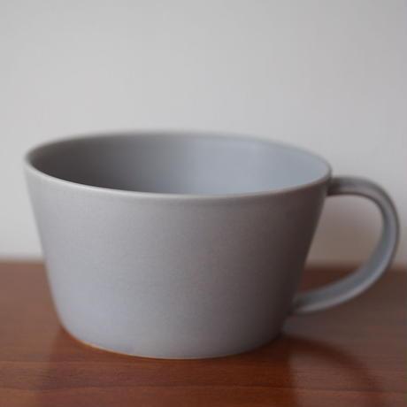 """作山窯  """"sara""""   スープカップ グレー"""