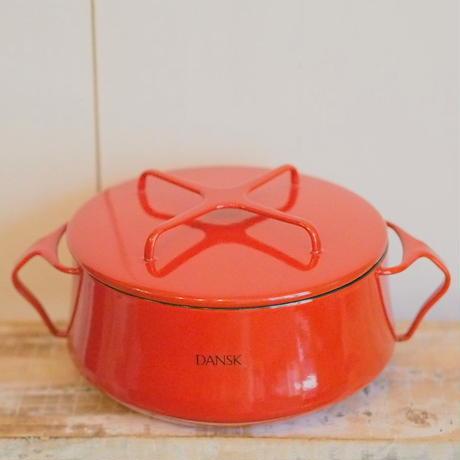 DANSK18㎝両手鍋 RED