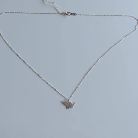 ネコシルエット ネックレス「座り」Cat silhouette necklace