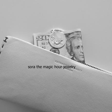 とかげのマネークリップ にほんやもり リザード好きの方へ メンズギフト 小さいお財布としても♪【受注生産】