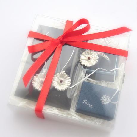 ガーベラのフリーリング ガーベラ好きさんへ贈る味わいシルバーアクセサリー花言葉「希望」「前向き」Lサイズ 【受注生産】