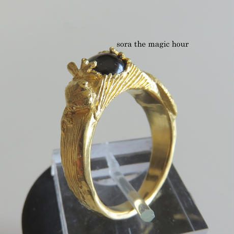 純金にほんやもりのりんぐ 家守のリング K24ゴールド 【受注生産】