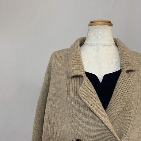 Lauren Beige Long Knit Coat