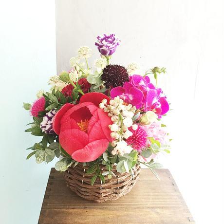 〈生花*予約〉母の日に♡芍薬ミックスアレンジメント