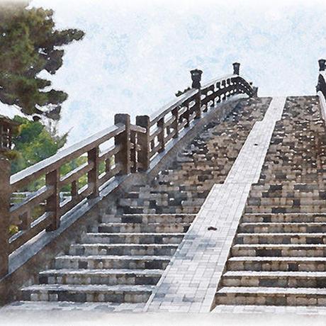 草加風景絵葉書(Watercolor)