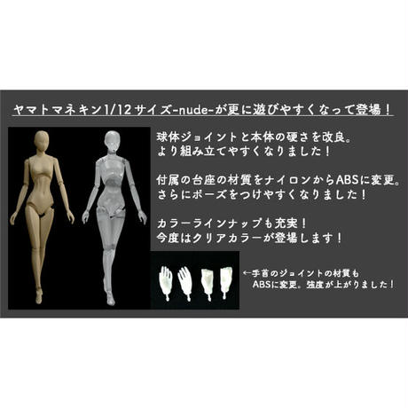 【4個入りパック】ヤマトマネキン 1/12サイズ nude 2《予約:2021年4月下旬発送予定》