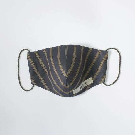 洗えるマスク【日本製2枚set】souhal立体マスク│女性用│カラー:ネイビー│品番D82【送料無料・代引き手数料無料(期間限定)】※内側ガーゼに抗菌消臭効果、防虫効果があるダブルガーゼを使用