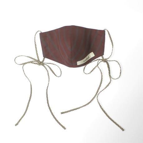 洗えるマスク【日本製2枚set】souhal立体マスク│女性用│ワイン│品番C81【送料無料・代引き手数料無料(期間限定)】※内側ガーゼに抗菌消臭効果・防虫効果があるダブルガーゼを使用