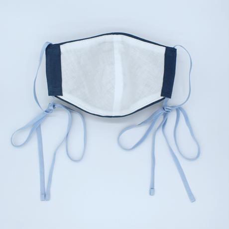 |美フェイス|souhal洗える立体マスク|日本製2枚set│女性用│ブルー|ベルギーリネン│品番D75|送料無料・代引き手数料無料|内側ダブルガーゼ(抗菌消臭効果、防虫効果)