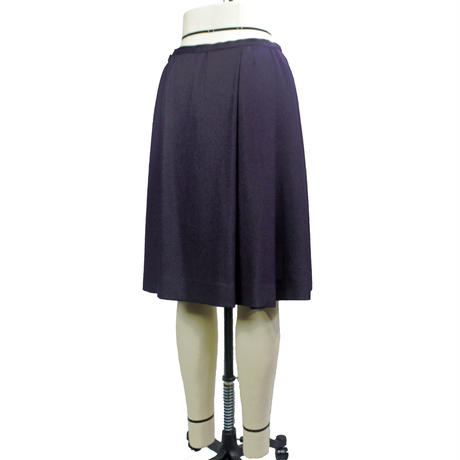 ラメ紫ローウエスト ソフトプリーツスカート (ラメ紫)(F34N) 【送料・代引き手数料無料】