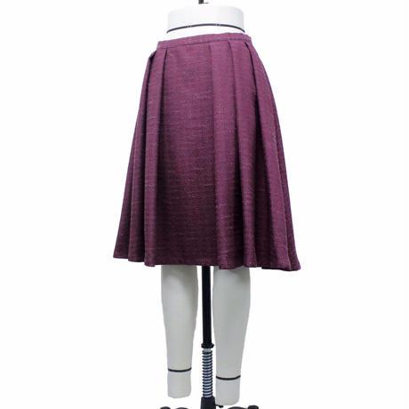 フロント袴ソフトプリーツスカート (ボルドー)(C61) 【送料・代引き手数料無料】