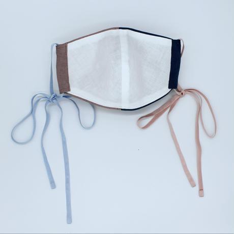 【日本製2枚setマスク】souhal立体マスク│女性用│ブルー&ピンク×ベルギーリネン│品番HD76【送料無料・代引き手数料無料(期間限定)】抗菌消臭効果、防虫効果があるダブルガーゼを使用