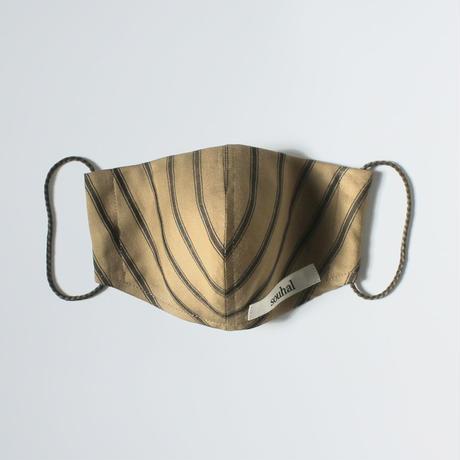 洗えるマスク【日本製2枚set】souhal立体マスク│女性用│マスタード×カーキ│(品番K80)【送料無料・代引き手数料無料(期間限定)】※内側ガーゼに抗菌消臭効果・防虫効果があるダブルガーゼを使用