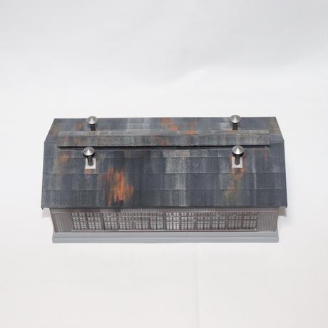 KATO 木造機関庫(塗装・組み立て完成品)