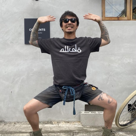 ALKDO / アラビックDECONTROL  T-shirts Sumi/White