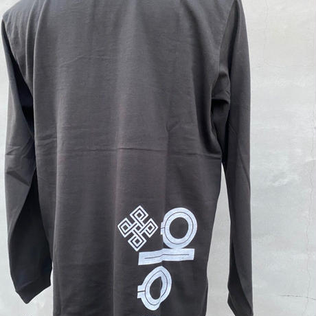 ALKDO/decontrolハングルモドキ LongT-shirts SUMI/White