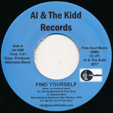 "[AK1208] Sir Joe Quarterman and Free Soul - Find Yourself / No Time For Dreaming (7"")"